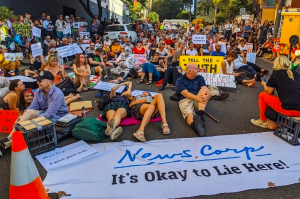 Murdoch Newscorp Lie-In Protest